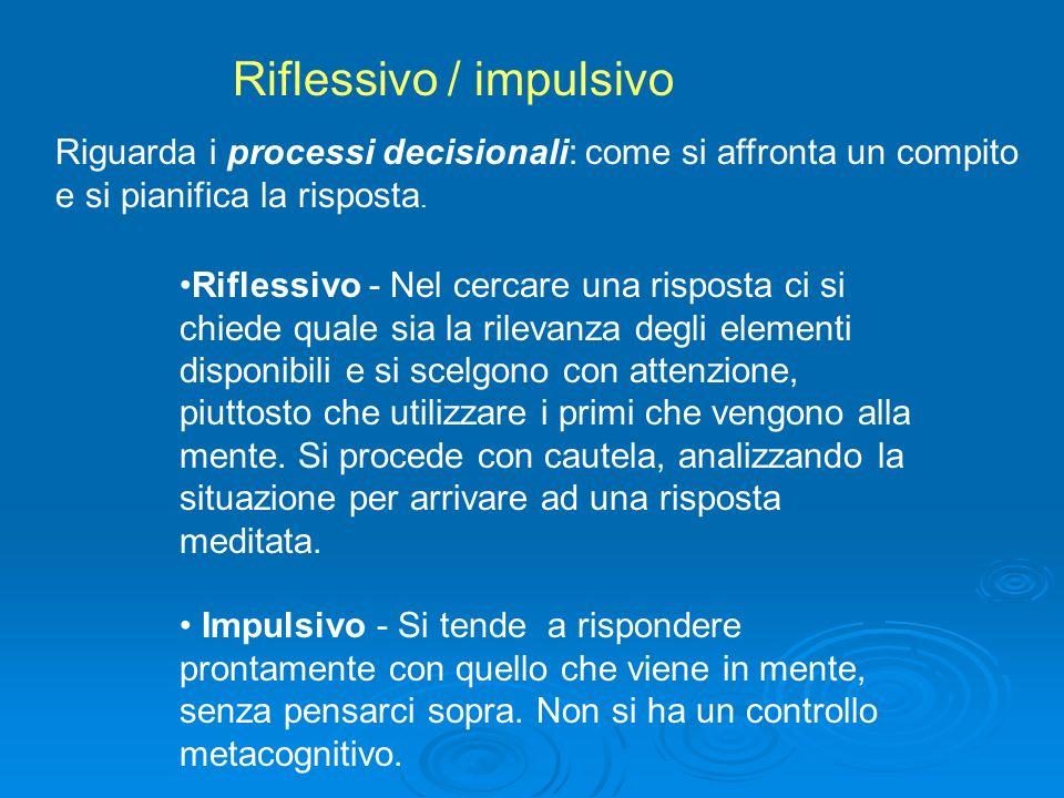 Riflessivo / impulsivo
