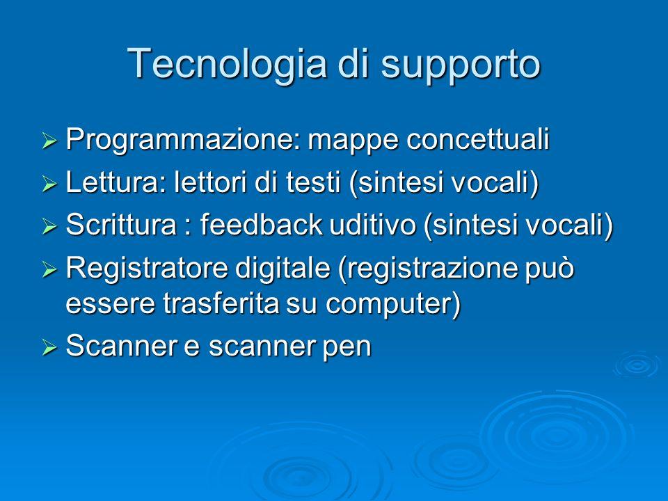 Tecnologia di supporto
