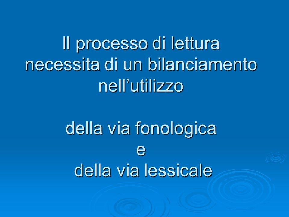 Il processo di lettura necessita di un bilanciamento nell'utilizzo della via fonologica e della via lessicale