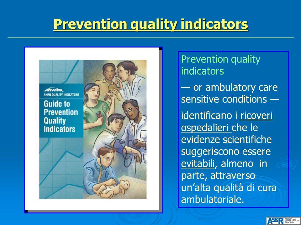 Prevention quality indicators