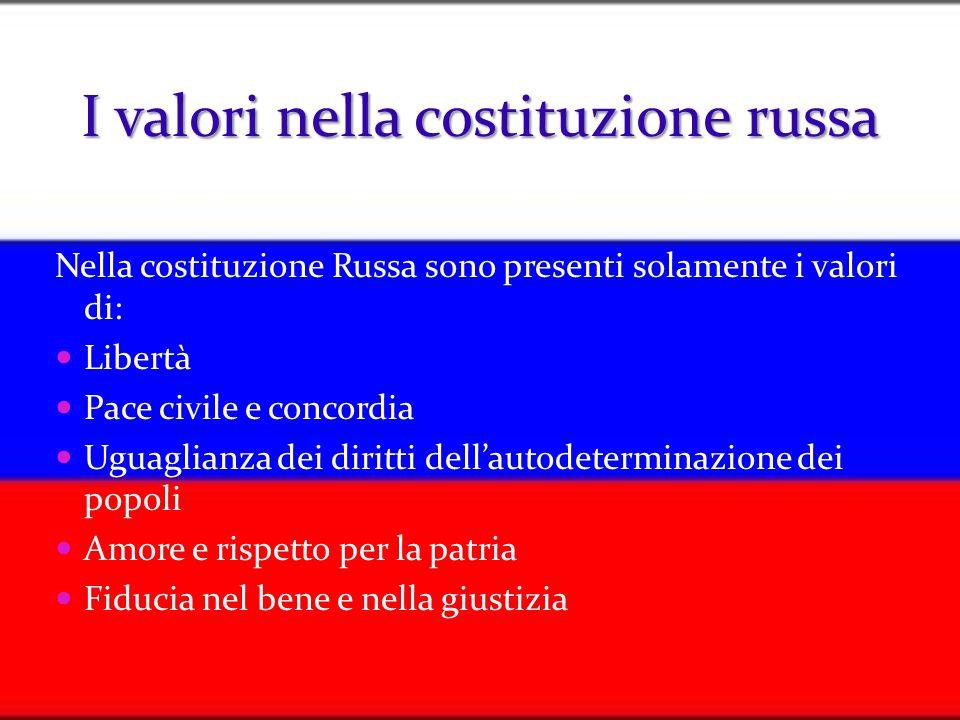 I valori nella costituzione russa