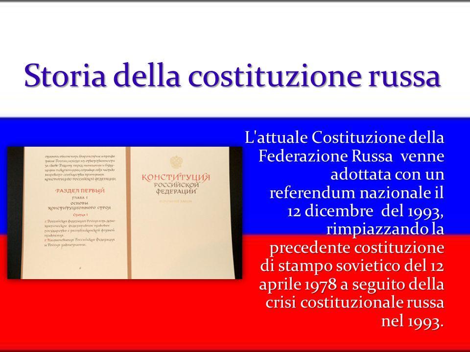 Storia della costituzione russa