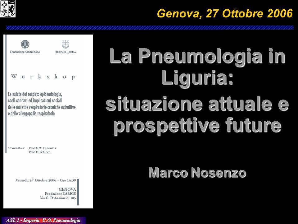 La Pneumologia in Liguria: situazione attuale e prospettive future