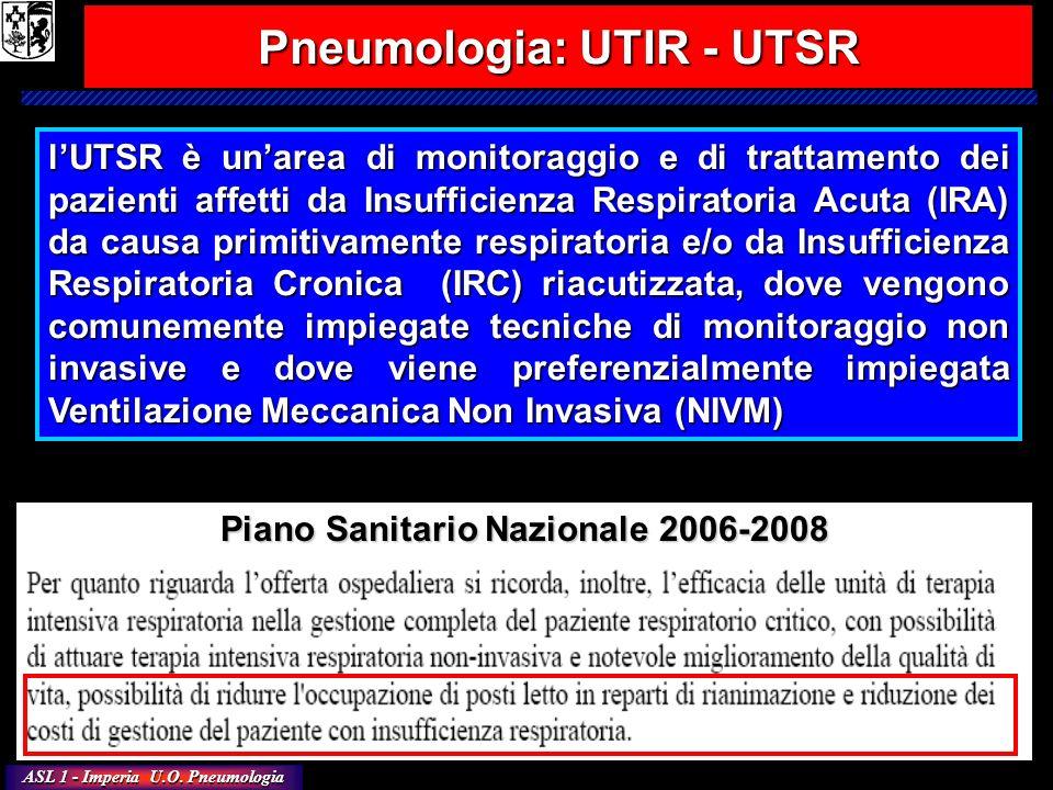 Pneumologia: UTIR - UTSR