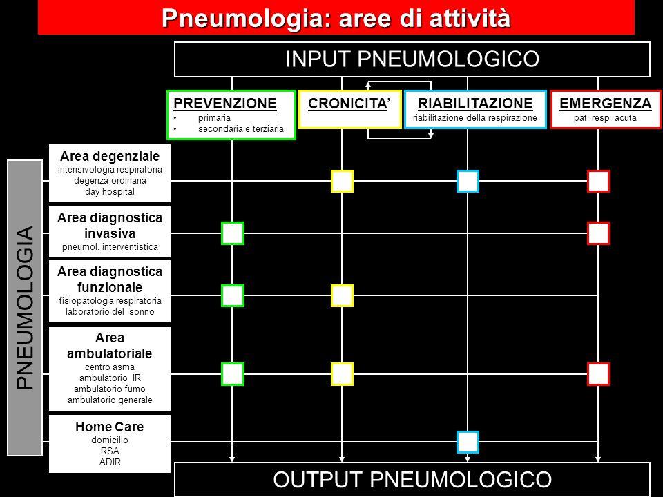 Pneumologia: aree di attività