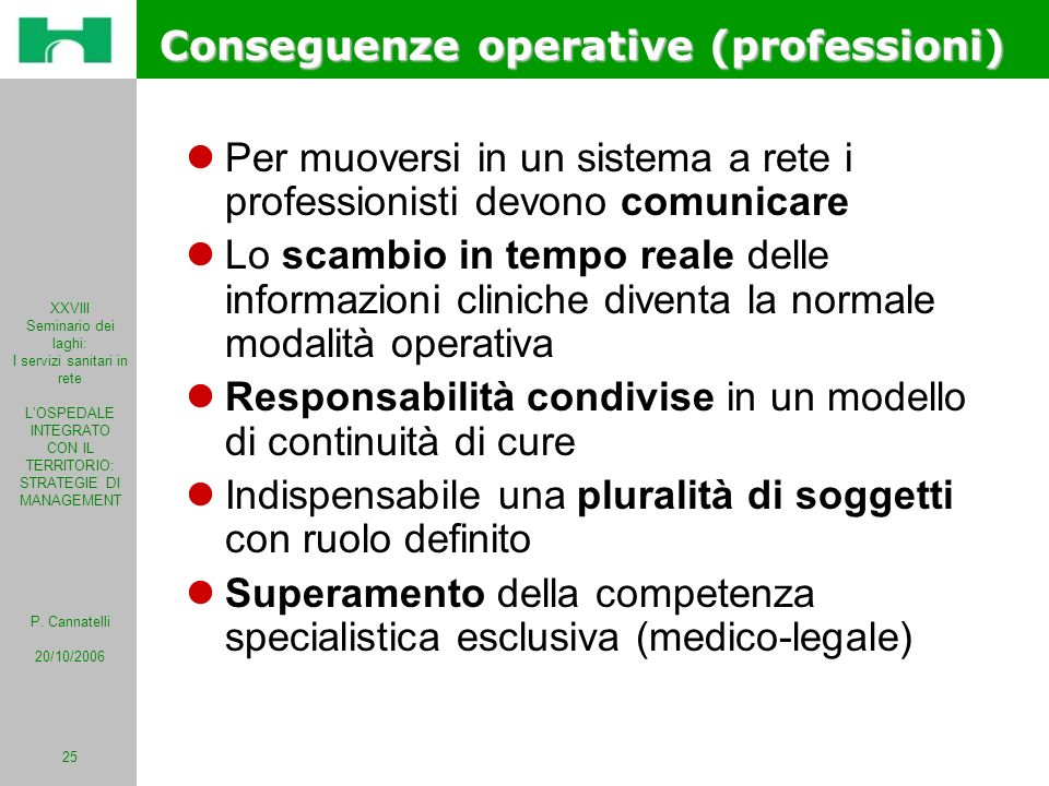 Conseguenze operative (professioni)