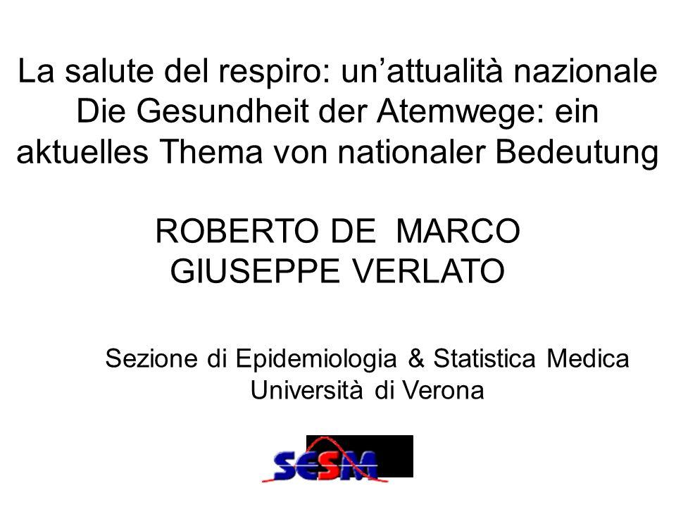 Sezione di Epidemiologia & Statistica Medica Università di Verona