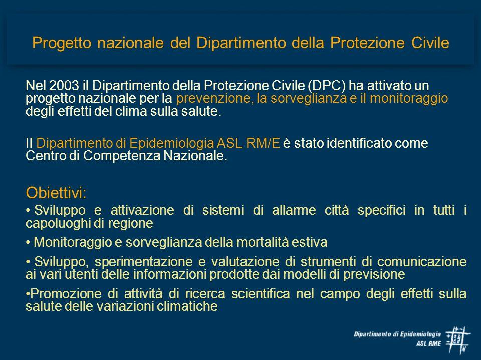 Progetto nazionale del Dipartimento della Protezione Civile