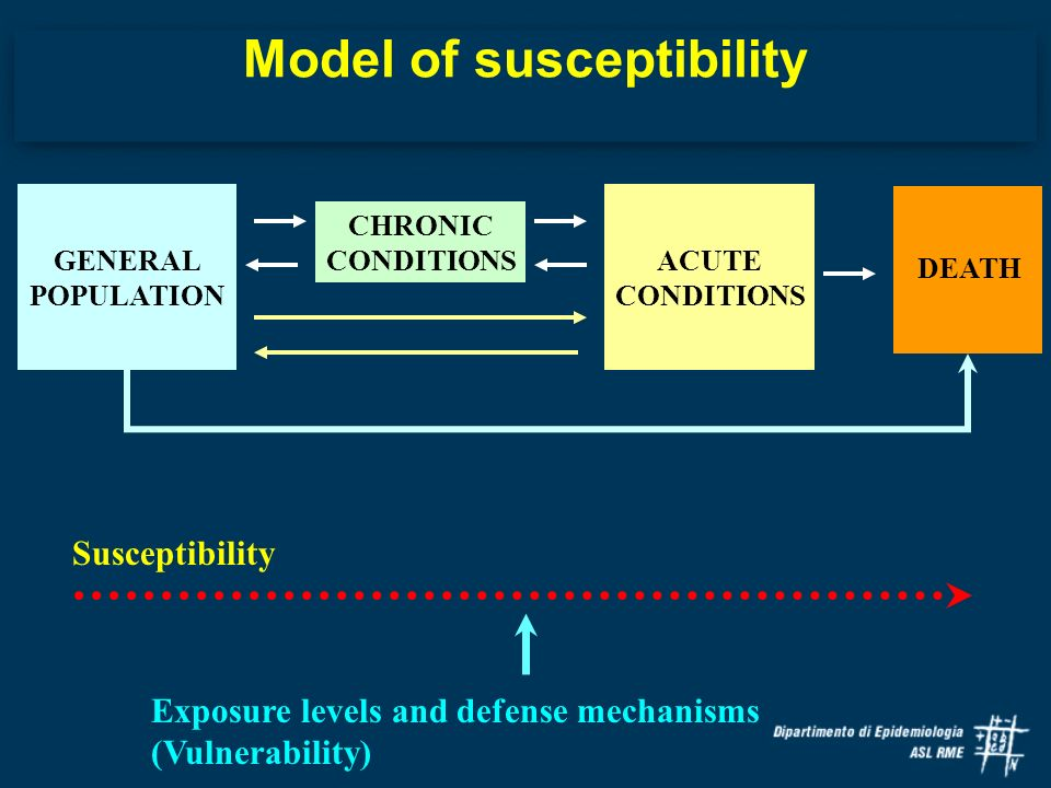 Model of susceptibility