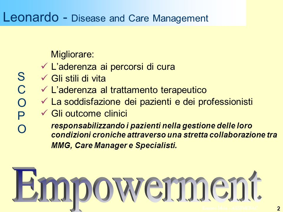 Leonardo - Disease and Care Management