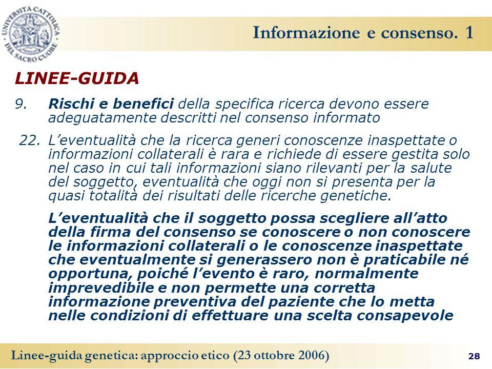 Informazione e consenso. 1