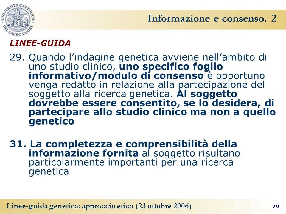 Informazione e consenso. 2