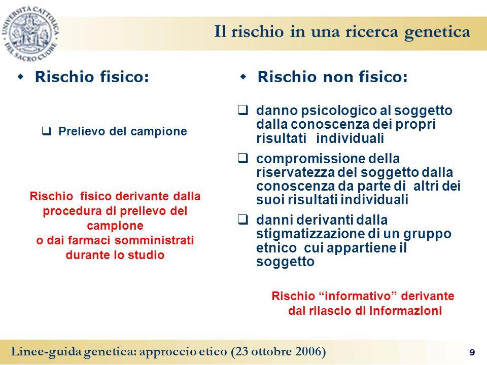 Il rischio in una ricerca genetica