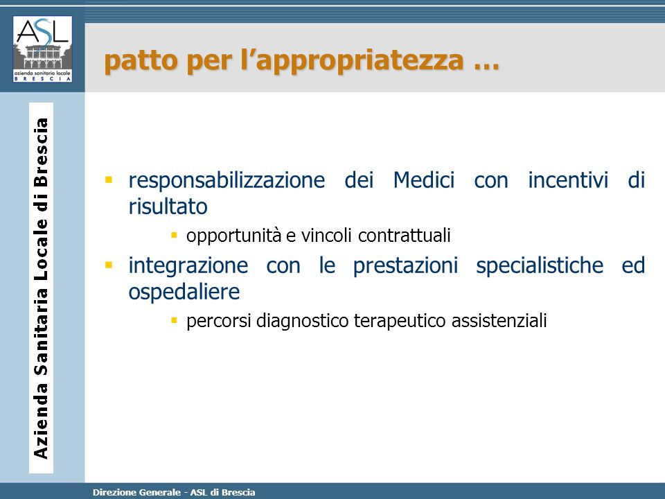 patto per l'appropriatezza …