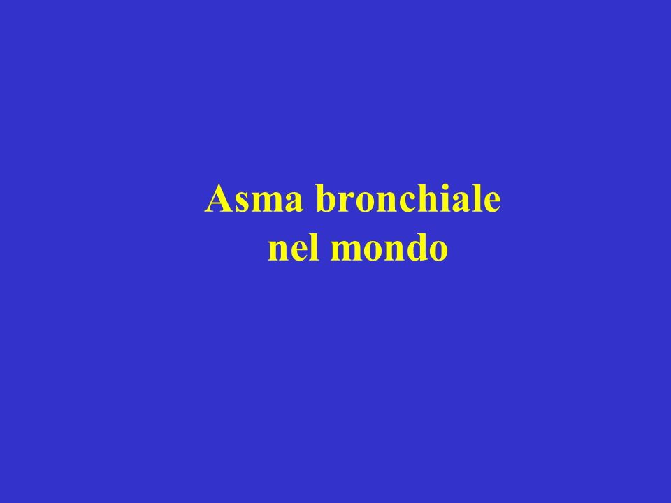 Asma bronchiale nel mondo