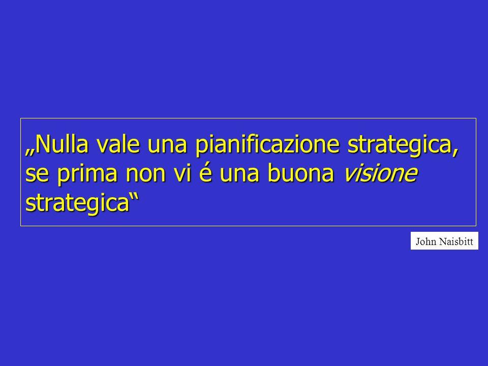 """""""Nulla vale una pianificazione strategica, se prima non vi é una buona visione strategica"""