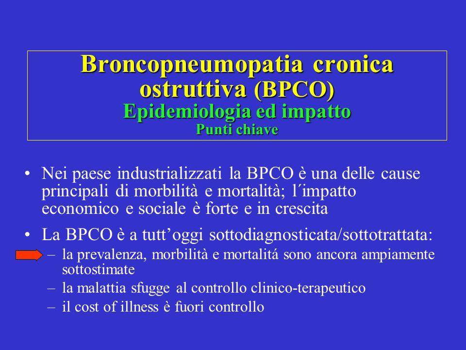 Broncopneumopatia cronica ostruttiva (BPCO) Epidemiologia ed impatto Punti chiave