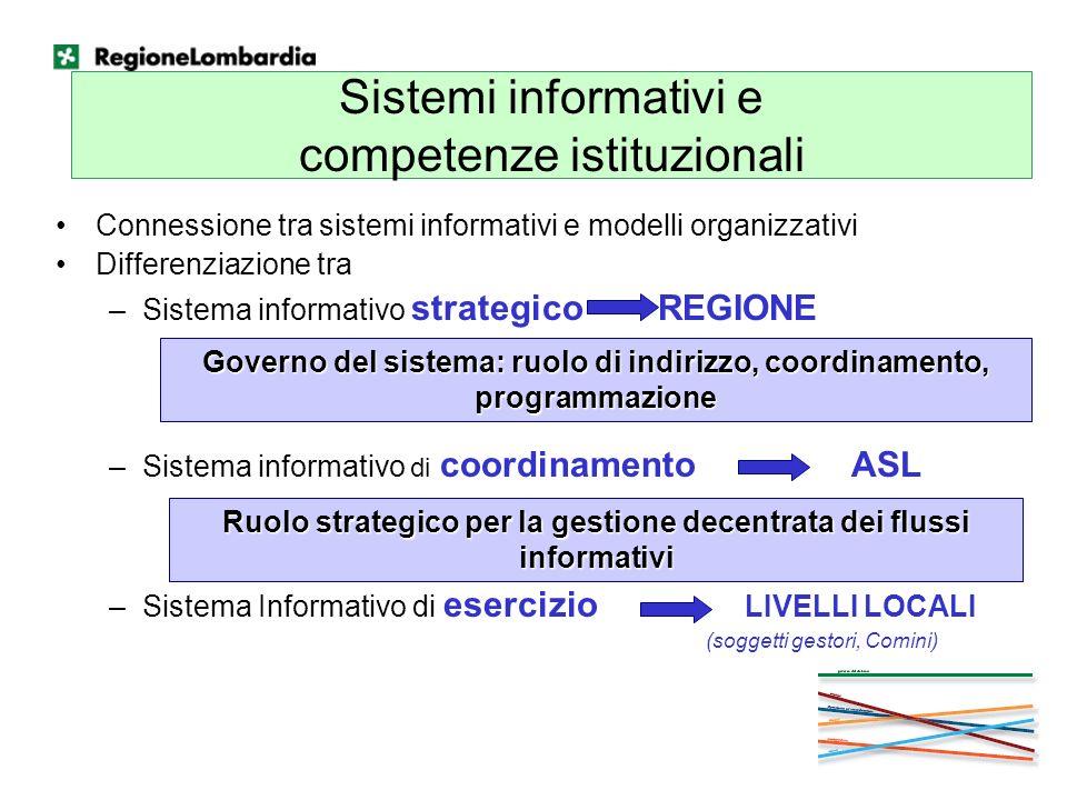 Sistemi informativi e competenze istituzionali