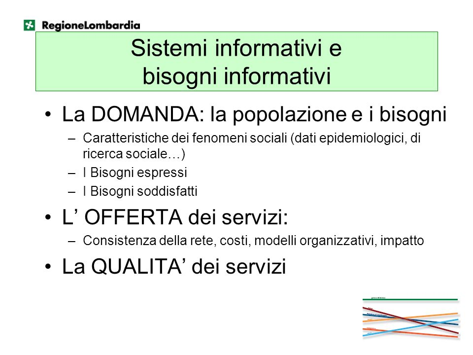 Sistemi informativi e bisogni informativi