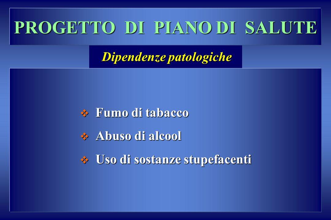 PROGETTO DI PIANO DI SALUTE Dipendenze patologiche
