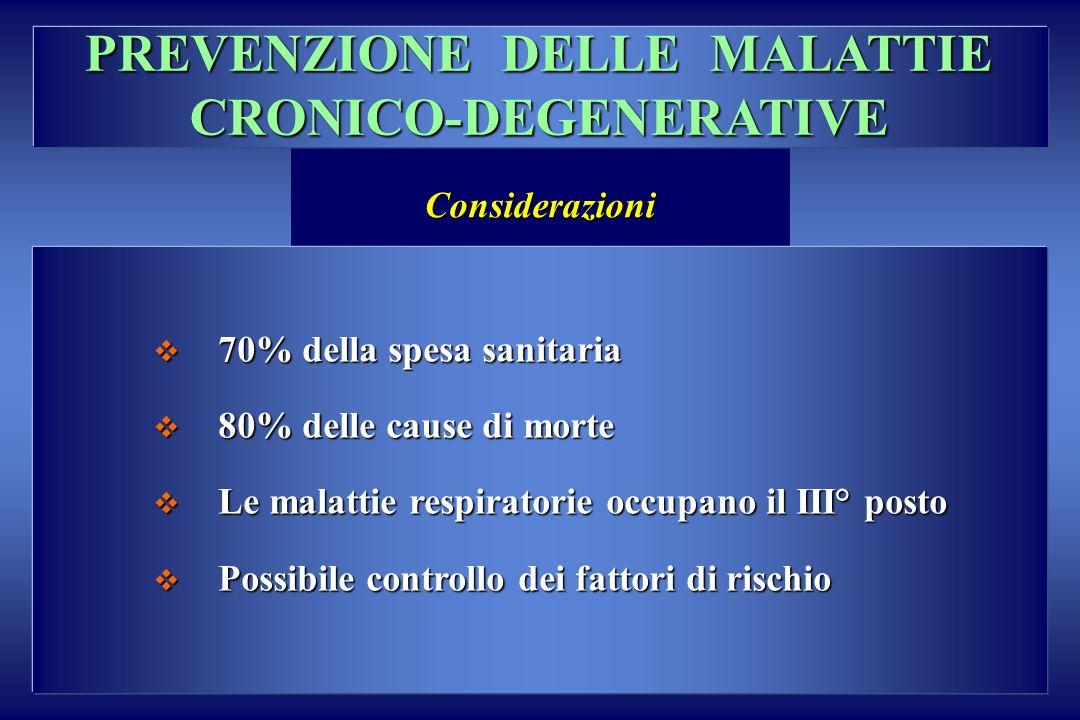 PREVENZIONE DELLE MALATTIE CRONICO-DEGENERATIVE