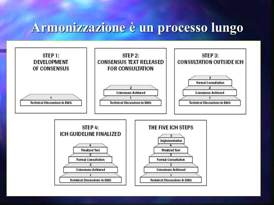 Armonizzazione è un processo lungo