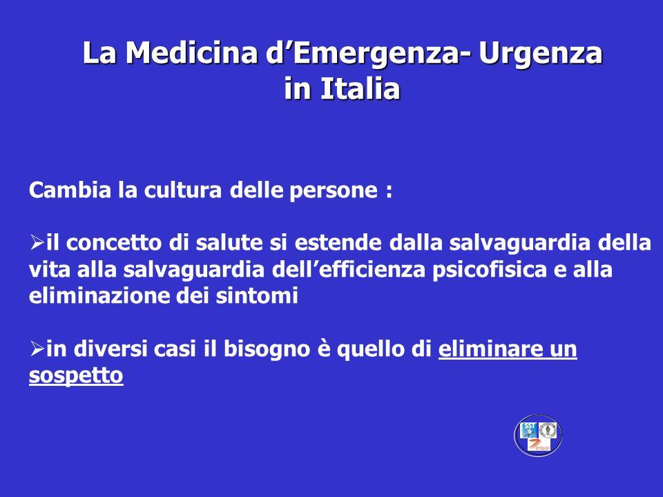 La Medicina d'Emergenza- Urgenza