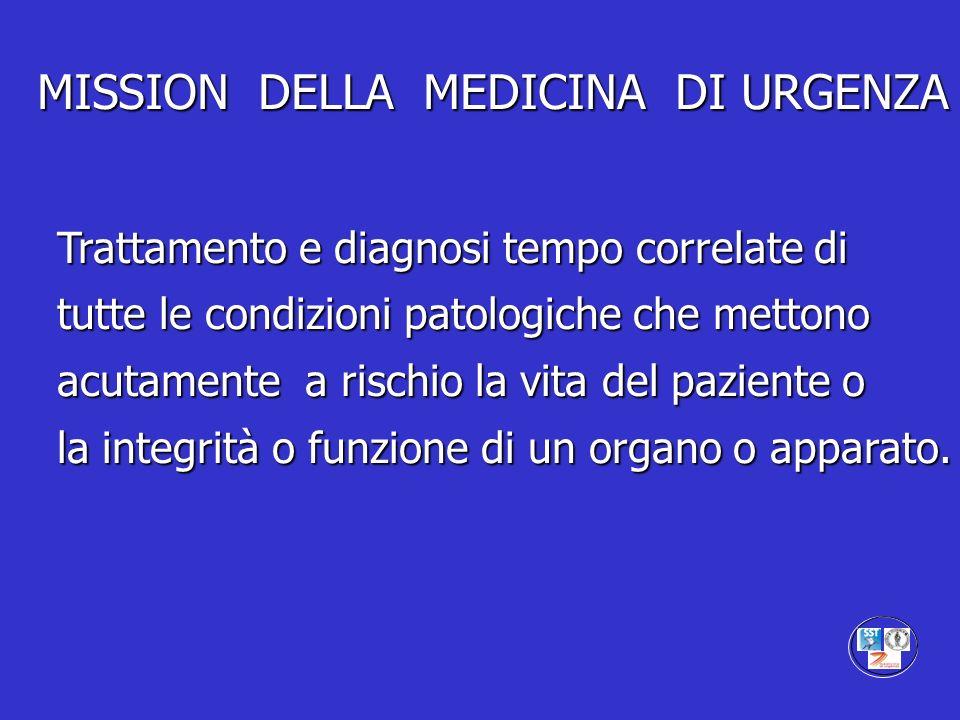 MISSION DELLA MEDICINA DI URGENZA