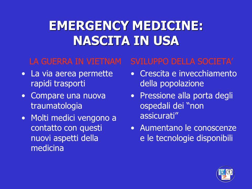EMERGENCY MEDICINE: NASCITA IN USA