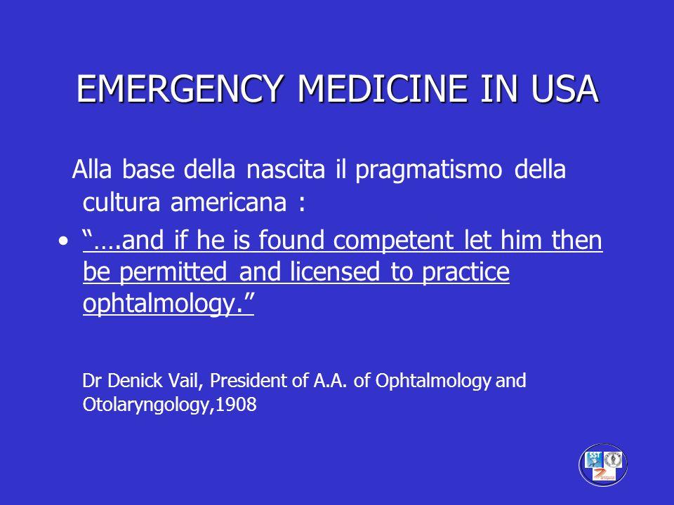 EMERGENCY MEDICINE IN USA