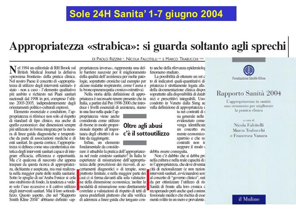 Sole 24H Sanita' 1-7 giugno 2004