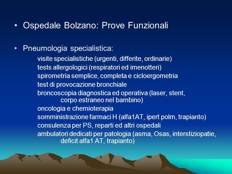 Ospedale Bolzano: Prove Funzionali