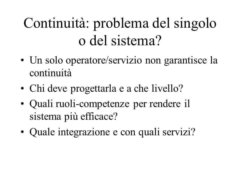 Continuità: problema del singolo o del sistema