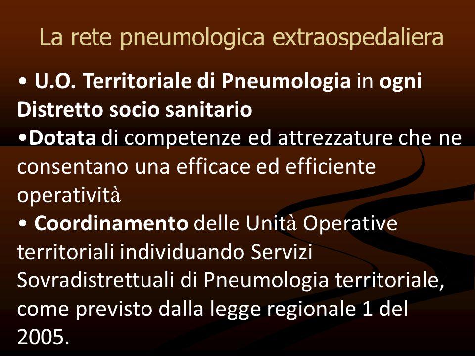La rete pneumologica extraospedaliera