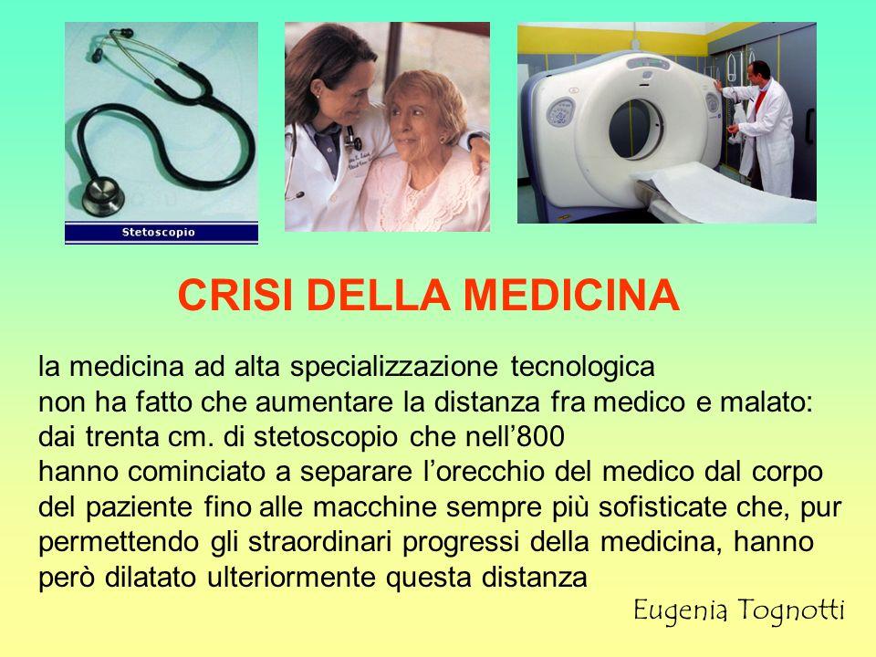 CRISI DELLA MEDICINA la medicina ad alta specializzazione tecnologica