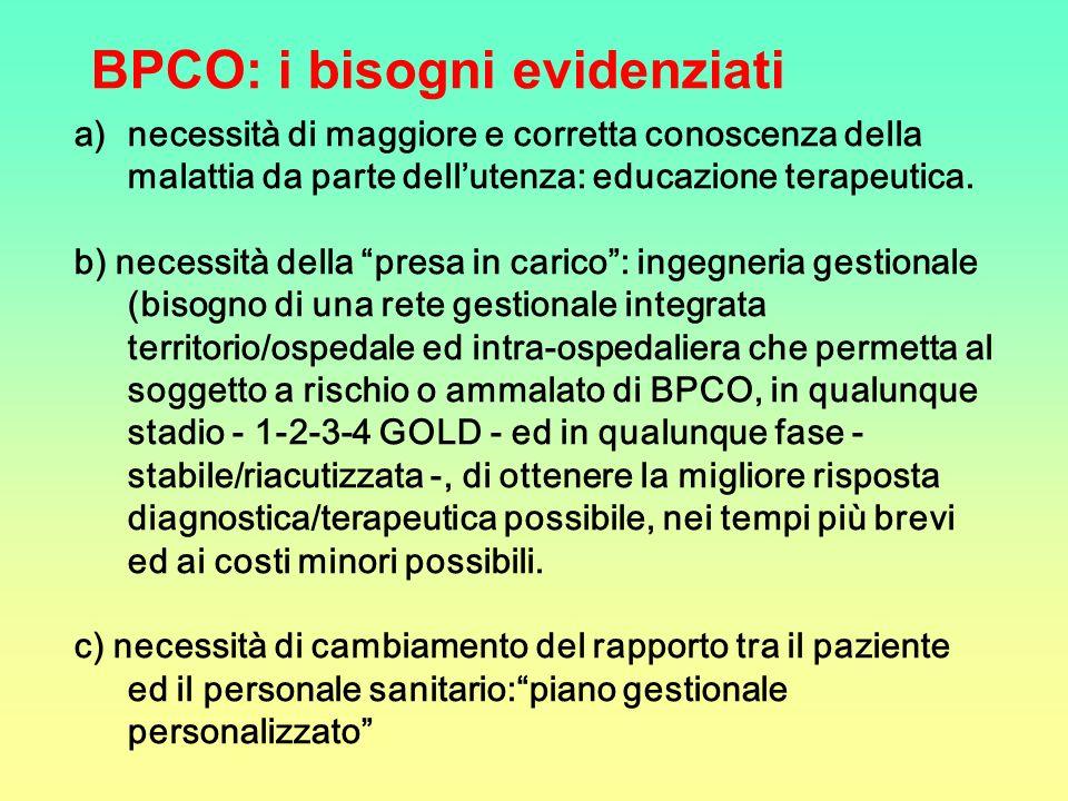 BPCO: i bisogni evidenziati