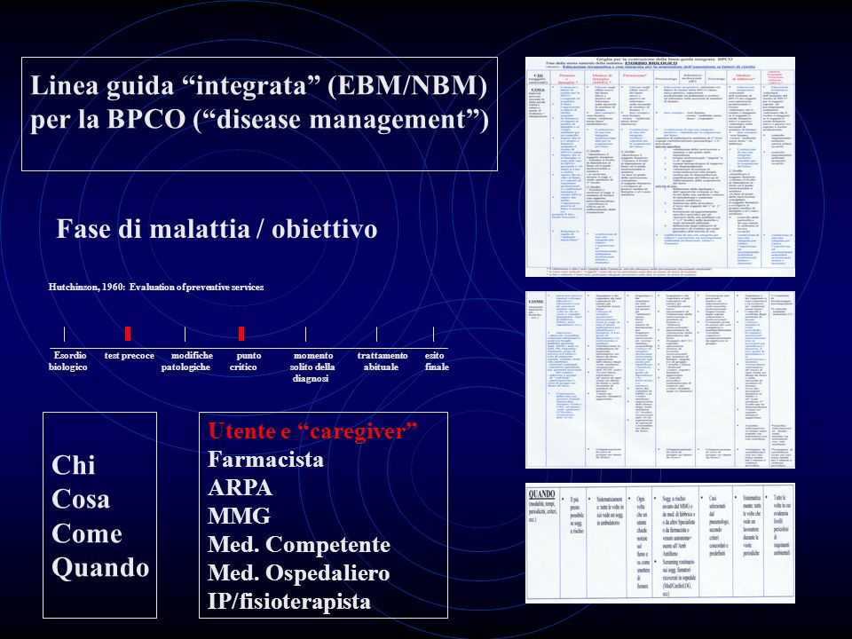 Linea guida integrata (EBM/NBM) per la BPCO ( disease management )