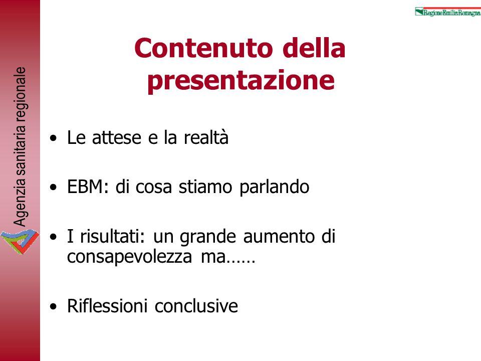 Contenuto della presentazione