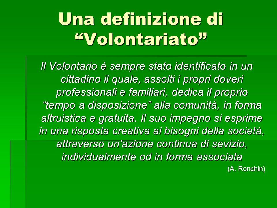 Una definizione di Volontariato