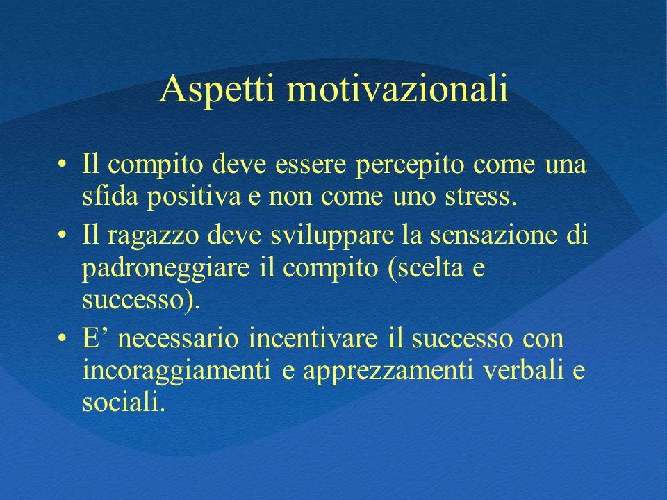 Aspetti motivazionali
