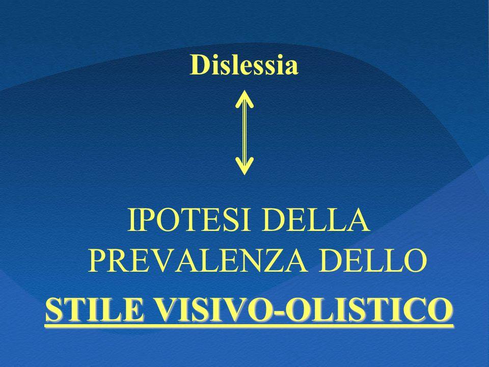 STILE VISIVO-OLISTICO
