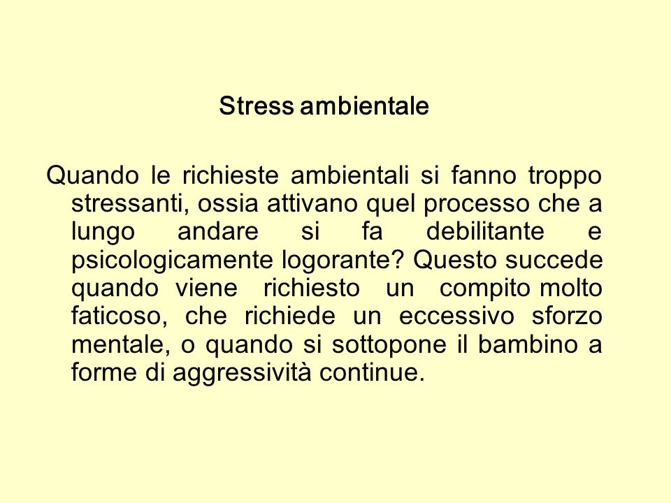 Stress ambientale
