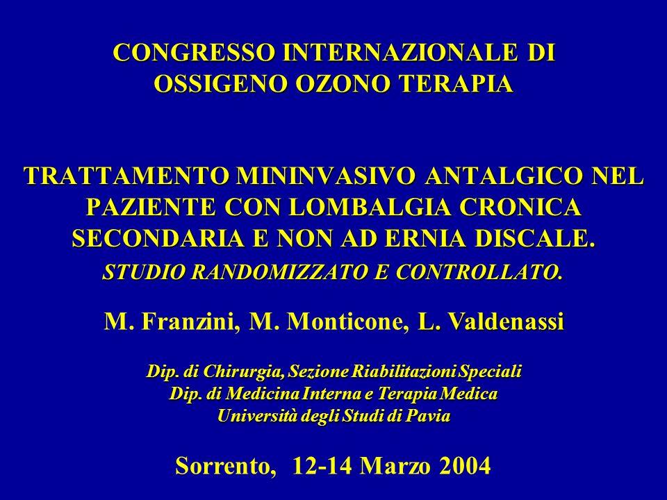 CONGRESSO INTERNAZIONALE DI OSSIGENO OZONO TERAPIA