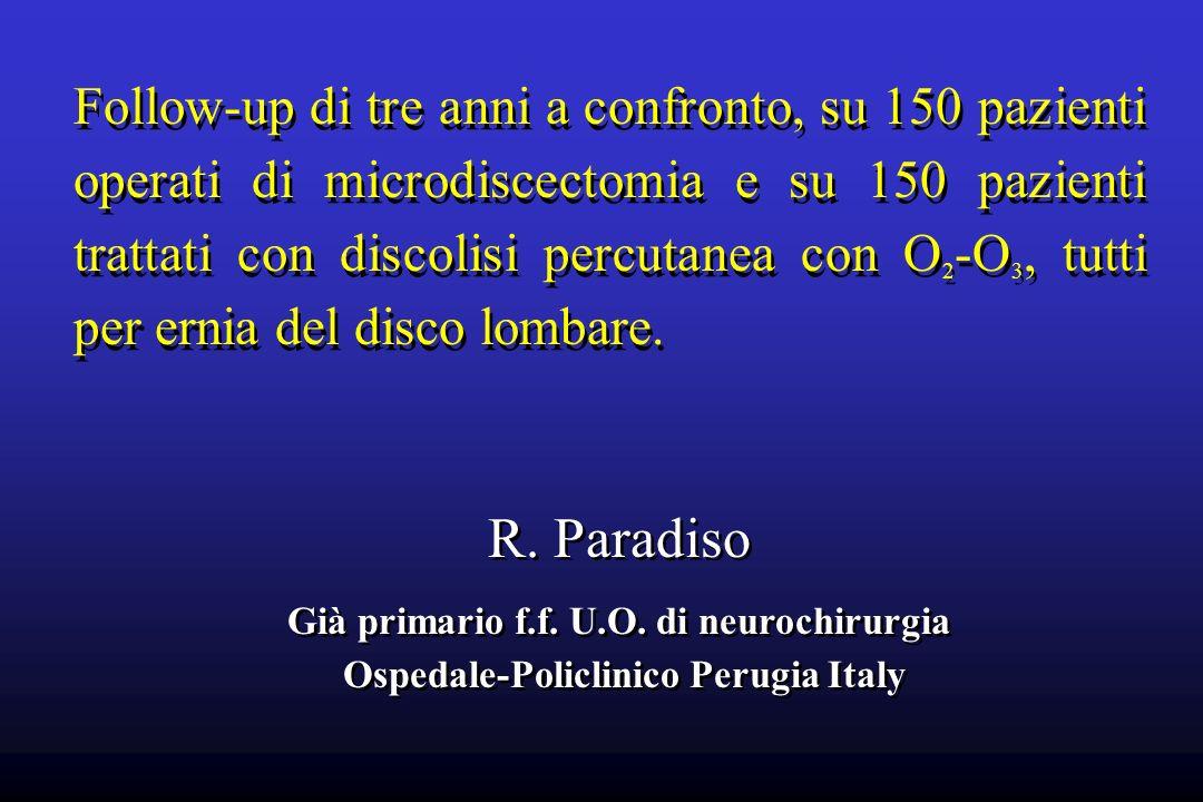 Già primario f.f. U.O. di neurochirurgia