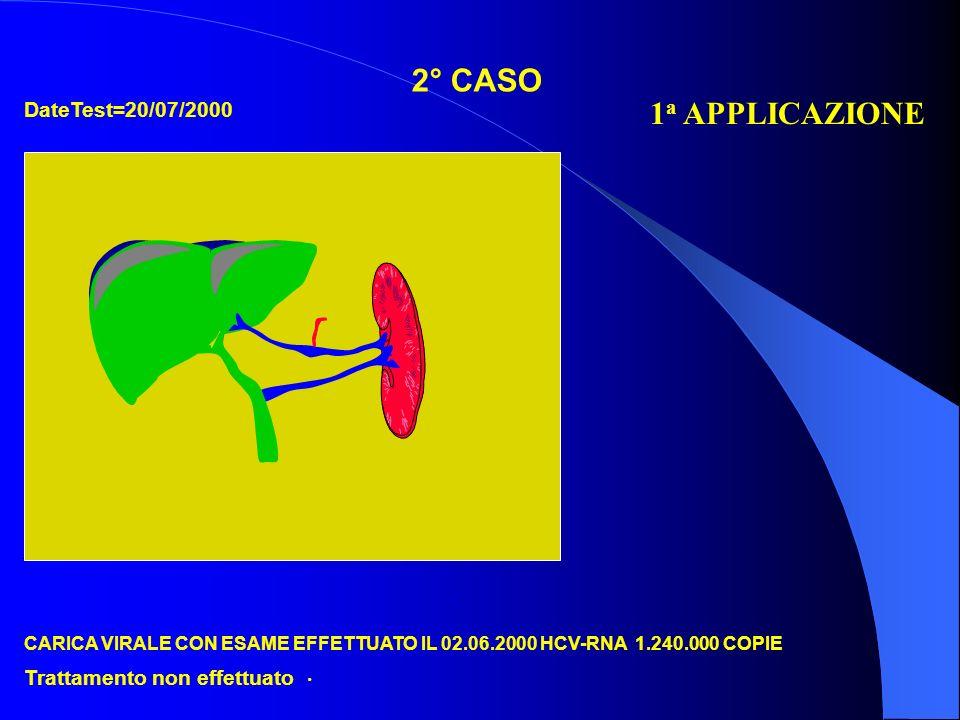 2° CASO 1a APPLICAZIONE DateTest=20/07/2000 Trattamento non effettuato