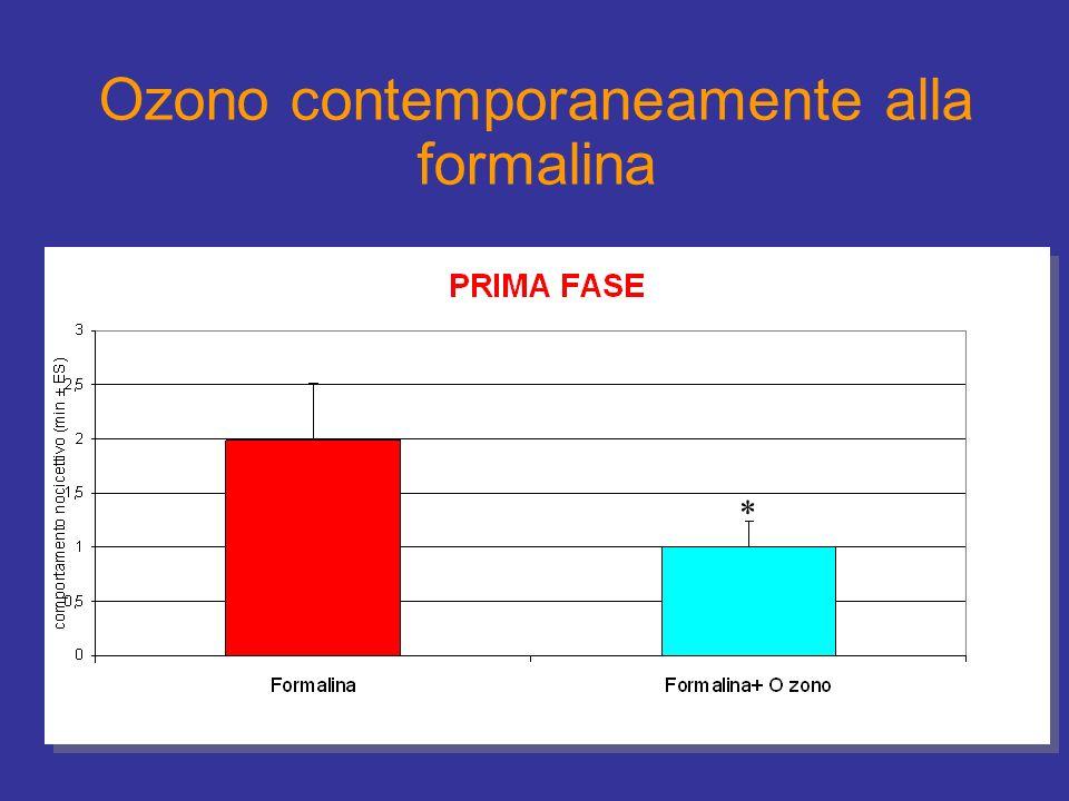 Ozono contemporaneamente alla formalina