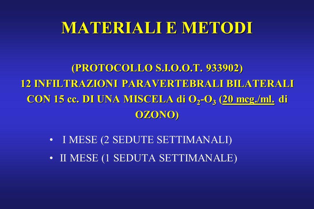 MATERIALI E METODI (PROTOCOLLO S. I. O. O. T