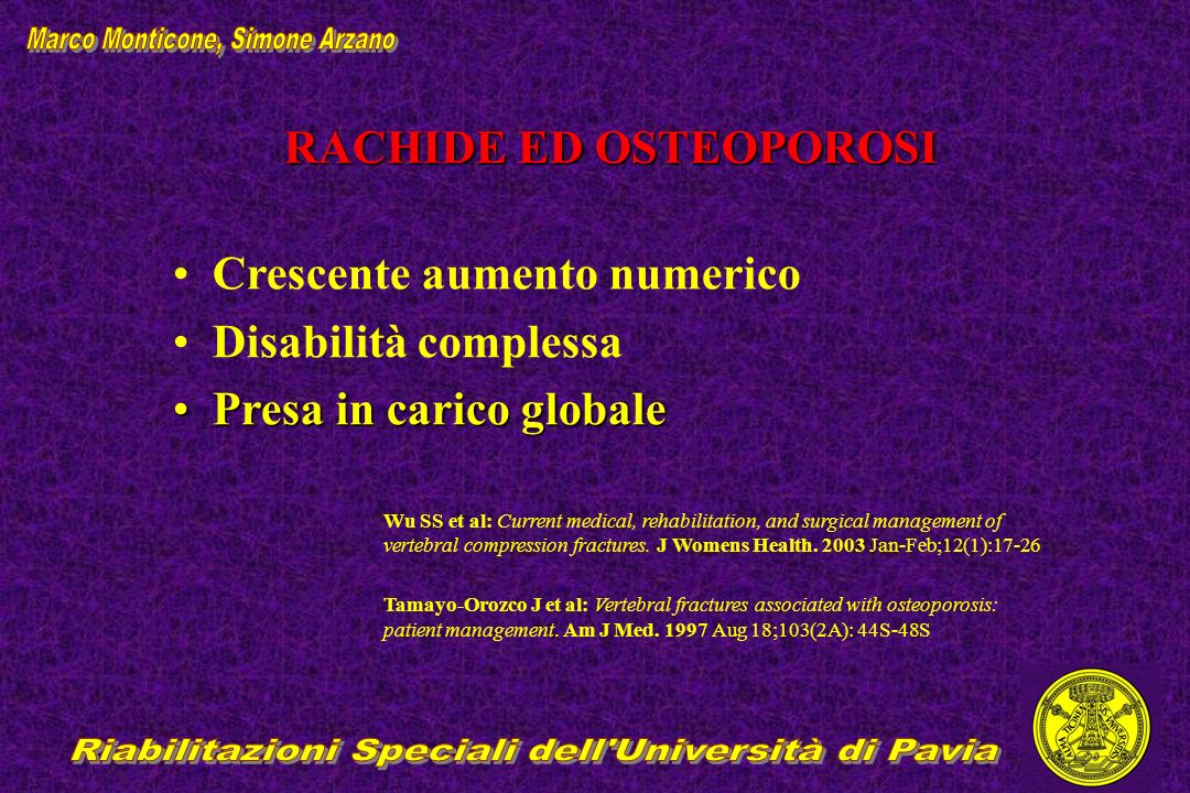 RACHIDE ED OSTEOPOROSI