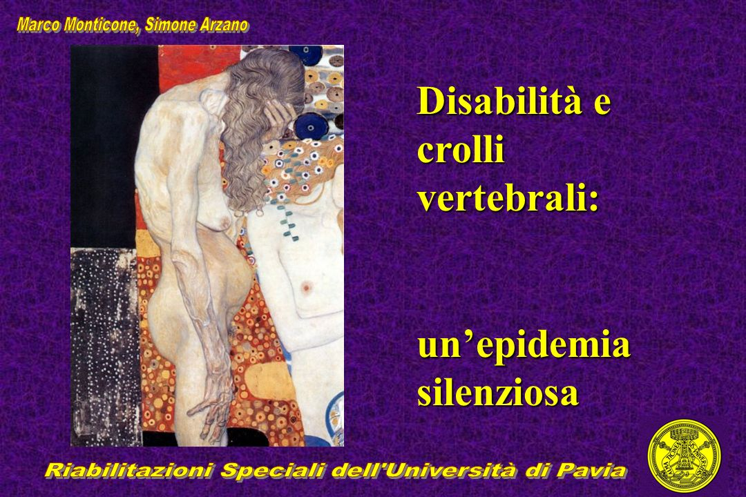 Disabilità e crolli vertebrali: