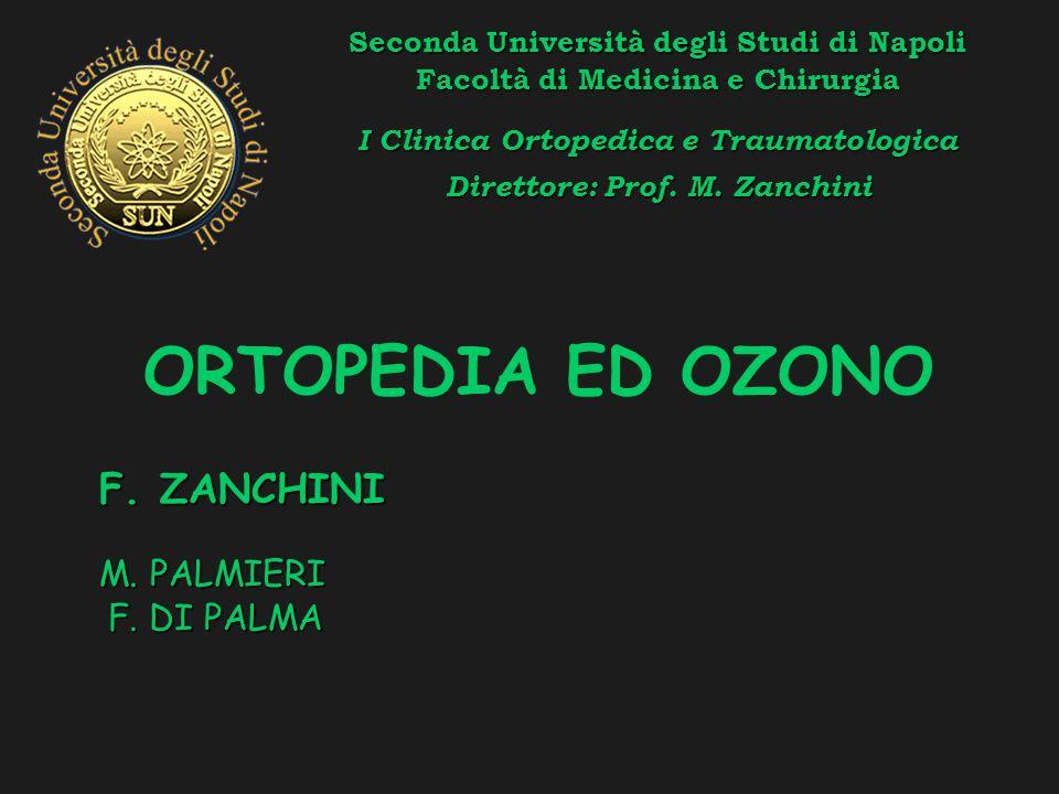 ORTOPEDIA ED OZONO F. ZANCHINI M. PALMIERI F. DI PALMA